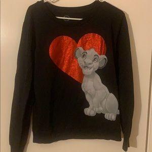 Disney Simba Lion King Crewneck Sweater